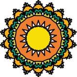 Элегантность весны на мандале земли красочной иллюстрация штока
