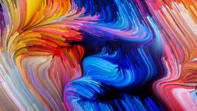 Элегантность жидкостного цвета бесплатная иллюстрация