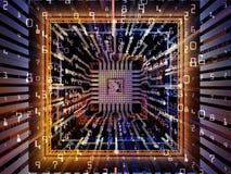 Элегантность процессора цифров иллюстрация вектора