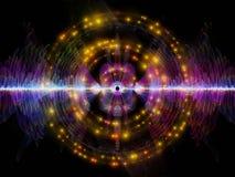 Элегантность радиального колебания иллюстрация вектора