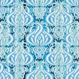 Элегантность флористическая освещает - картину голубого вектора 3d безшовную Ornamenta иллюстрация штока