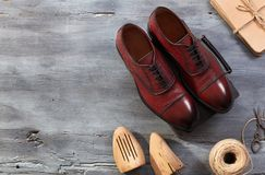 Элегантные ботинки людей Стоковые Фотографии RF