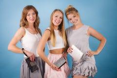 Элегантные женщины держа бумажник портмона руки Стоковое фото RF
