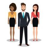Элегантные предприниматели изолировали дизайн значка бесплатная иллюстрация