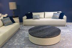 Элегантные софы и таблица в живущей комнате Стоковые Изображения RF