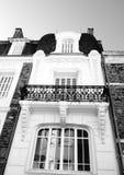 Элегантный викторианский французский балкон квартиры Стоковое фото RF