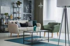 Элегантный интерьер живущей комнаты Стоковое Фото
