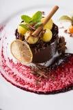 Элегантный шоколадный торт Стоковые Фотографии RF