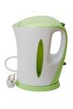электрическая белизна чайника стоковое фото rf