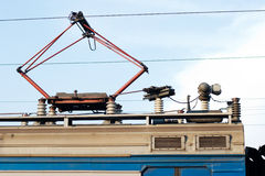 Электрическая вагонетка двигателя Стоковая Фотография