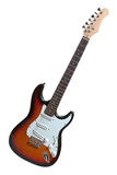Электрическая гитара изолированная на белизне Стоковые Фотографии RF
