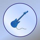 электрическая гитара Инструмент аудио значка также вектор иллюстрации притяжки corel Стоковое Изображение RF