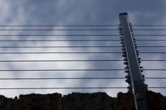 электрическая загородка стоковые фотографии rf