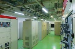 Электрическая комната подстанции Стоковые Изображения