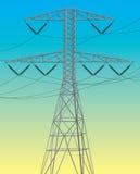 электрическая линия сила Стоковые Фотографии RF
