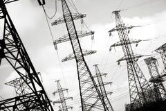 электрическая линия сила стоковое фото