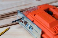 Электрическая пила джига и карандаш Стоковое фото RF