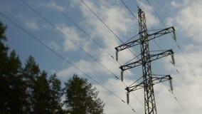 Электрическая поддержка высоковольтных силовых кабелей Энергетическая промышленность сток-видео