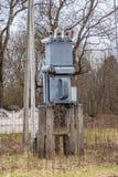 Электрическая подстанция, высоковольтный трансформатор стоковое изображение rf
