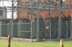 электрическая подстанция Стоковая Фотография