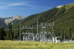 электрическая подстанция стоковые фотографии rf