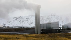 Электрическая станция геотермальной энергии сток-видео