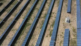 Электрическая станция солнечной энергии для продукции  видеоматериал