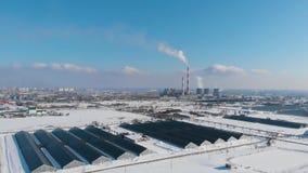 Электрическая станция тепловой мощности сток-видео