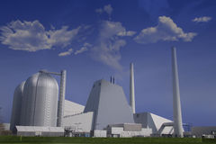 электрическая станция угля самомоднейшая Стоковая Фотография