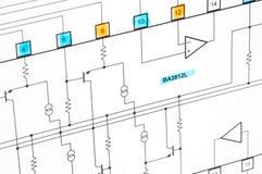 электрическая схема стоковое фото