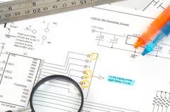 электрическая схема Стоковая Фотография RF