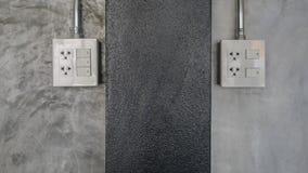 Электрическая штепсельная вилка и переключатель Стоковое Изображение