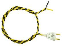 Электрическая штепсельная вилка и провод Стоковое Изображение RF