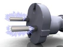 электрическая штепсельная вилка иллюстрация вектора