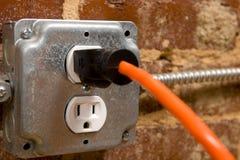 электрическая штепсельная вилка Стоковые Фото