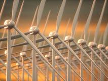 Электрическая энергия производства электроэнергии ветровых электростанций Стоковое фото RF