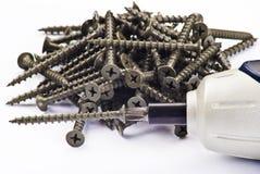 электрические винты отвертки Стоковая Фотография