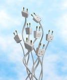 электрические выходы Стоковая Фотография