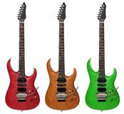 электрические гитары изолировали белизну Стоковая Фотография