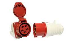 электрические гнезда штепсельных вилок Стоковые Фотографии RF