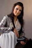 электрические женщины портрета куртки Стоковое Фото