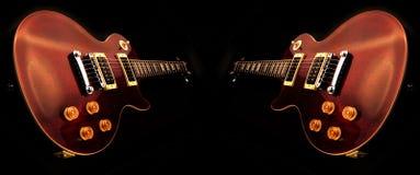 электрические изолированные гитары Стоковая Фотография