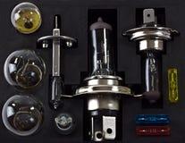 Электрические лампочки автомобиля стоковое изображение