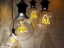 Электрические лампочки старой школы Стоковое Фото