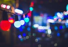Электрические лампочки Party образ жизни праздника события фестиваля украшения внешний Стоковое Изображение RF
