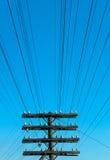 электрические линии сила Стоковые Фотографии RF