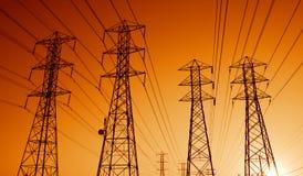 электрические линии сила Стоковые Фото