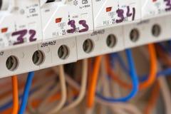 электрические линии сила fuseboxes Стоковое фото RF