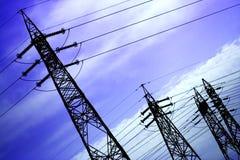 электрические линии электропередач Стоковое фото RF