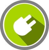 Электрические логотип и шаблон изображения стоковые фото